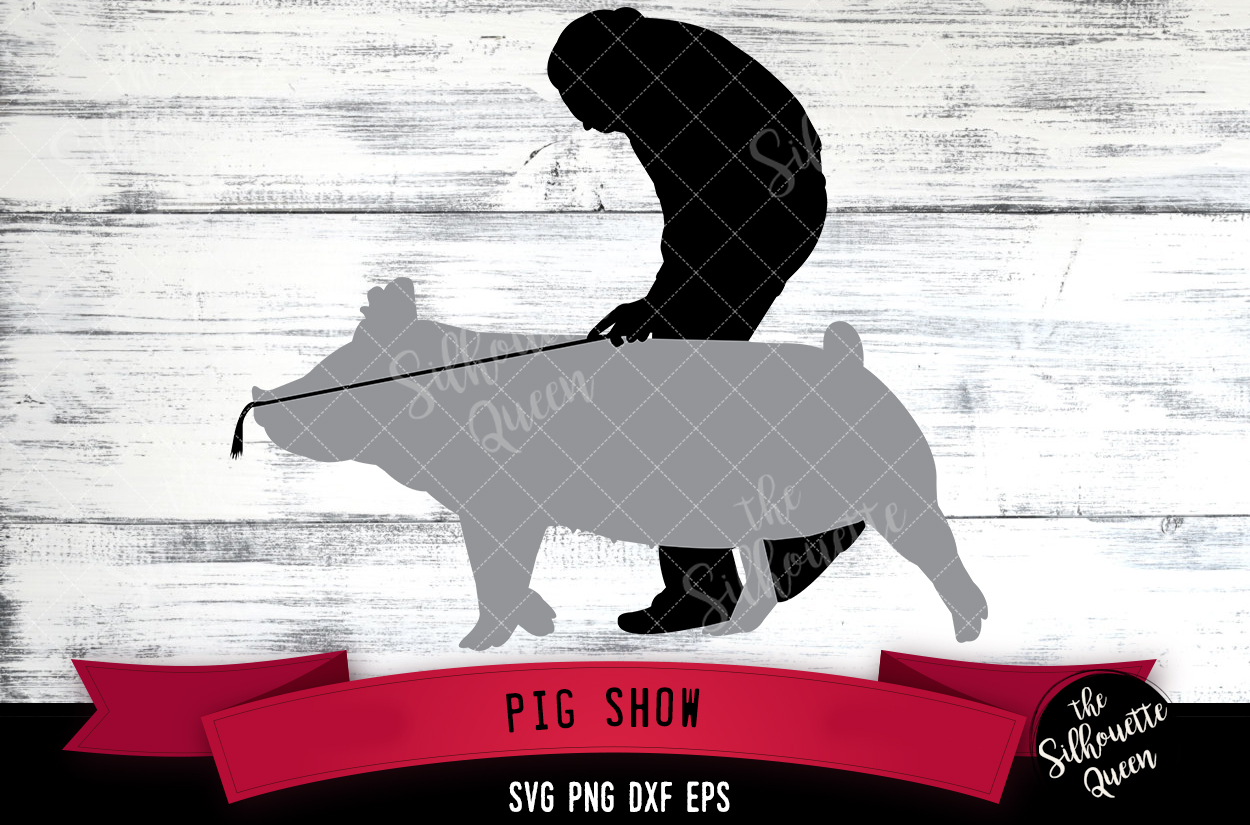 Pig Show svg file, livestock show svg cut file example image 1