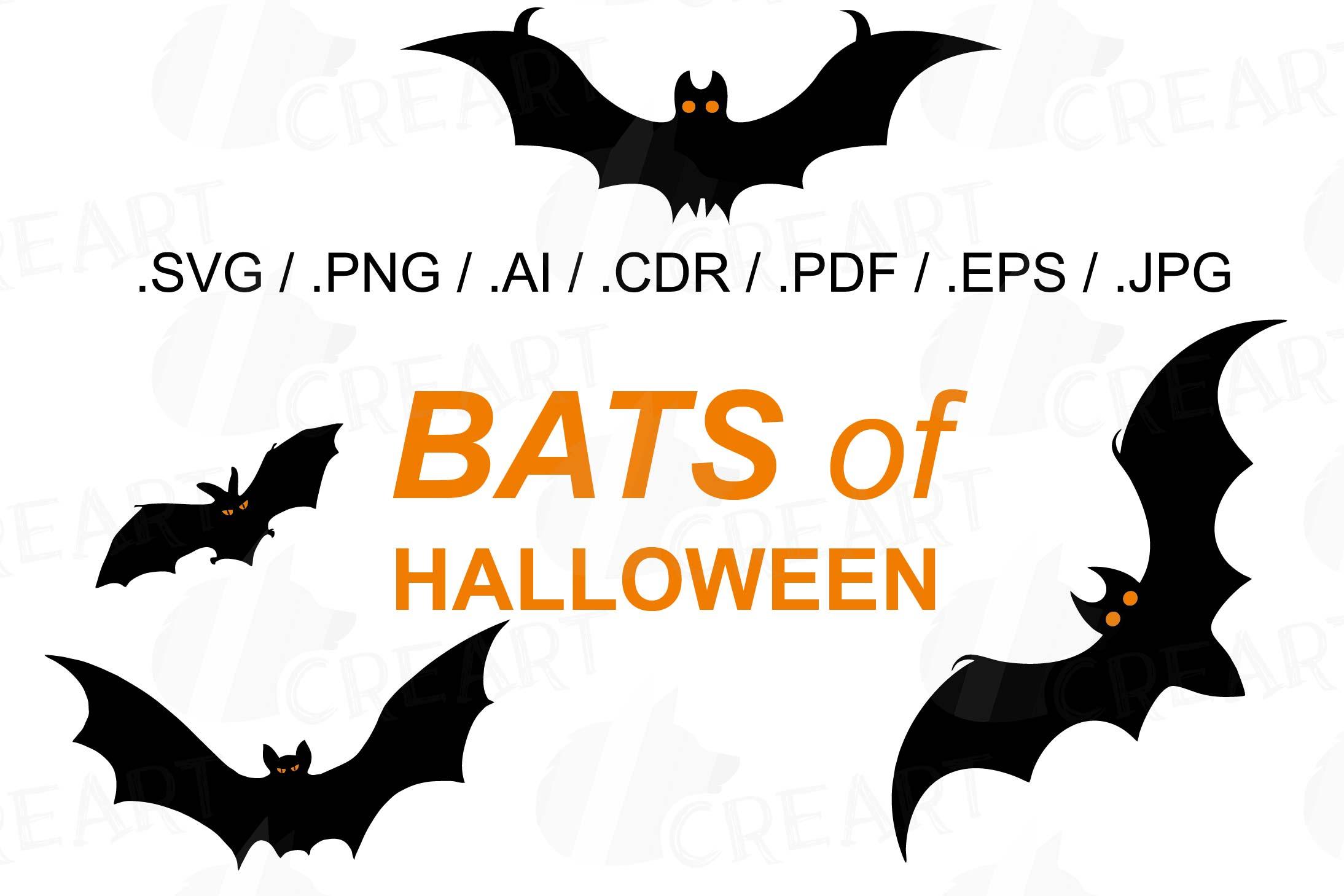 halloween bats silhouettes clip art halloween party vectors example image 1