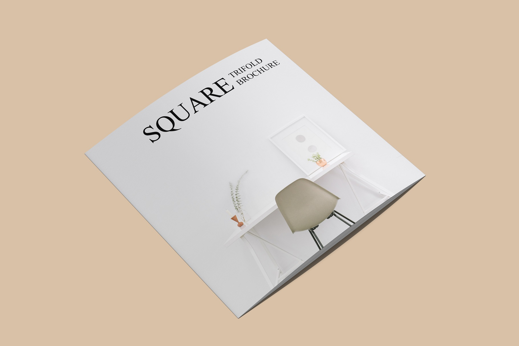 Square Trifold Brochure Mockup example image 13