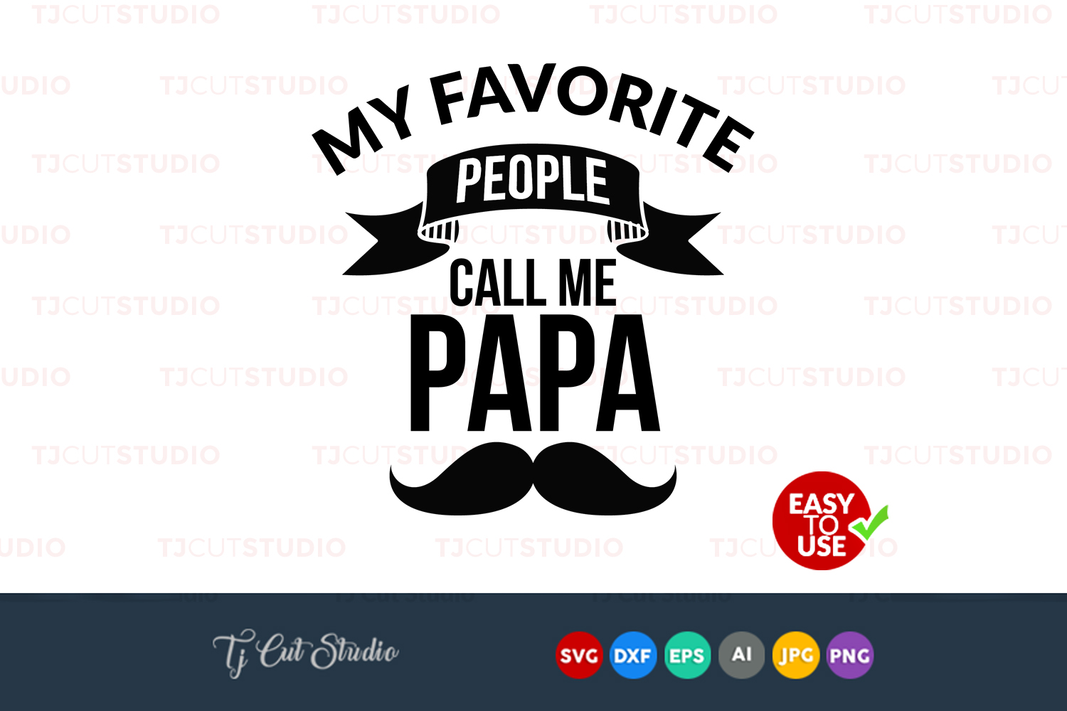 My favorite people, papa svg, grandpa svg, quote svg, Files for Silhouette Cameo or Cricut, Commercial & Personal Use. example image 1