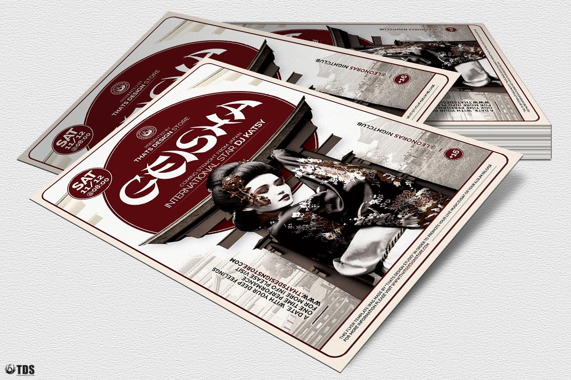 Geisha Night Flyer Template V5 example image 4