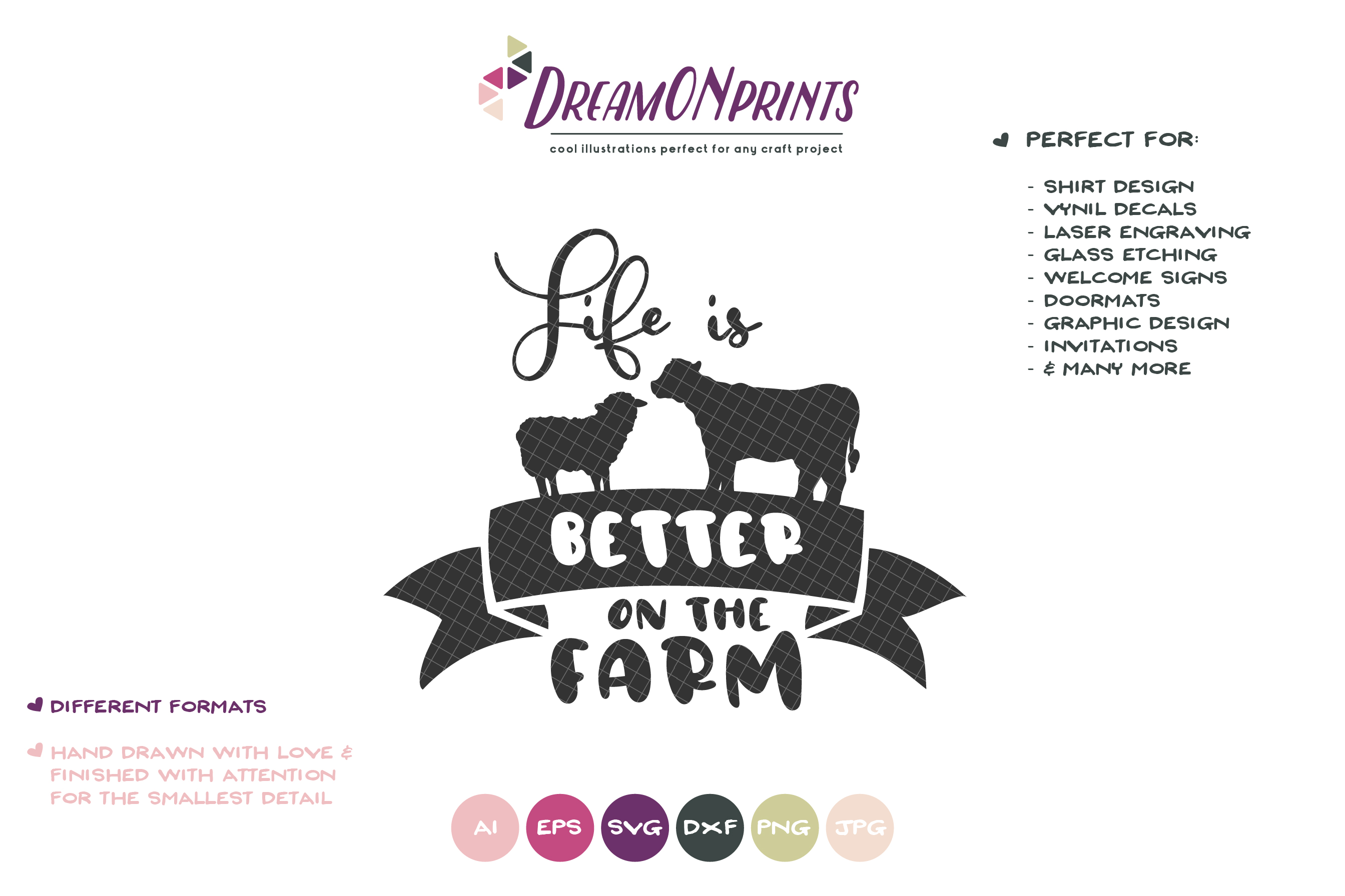 Life is Better on the Farm SVG - Sign Making SVG example image 2