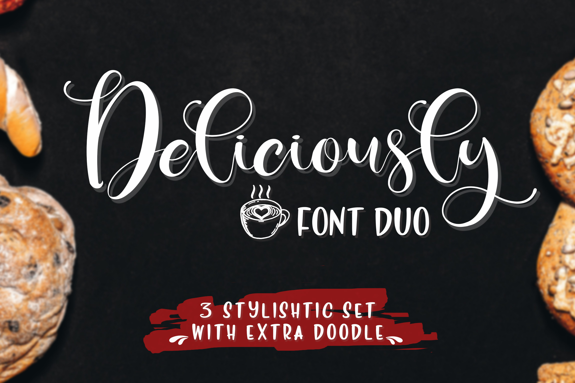 Deliciously Font Duo  Extras example image 1