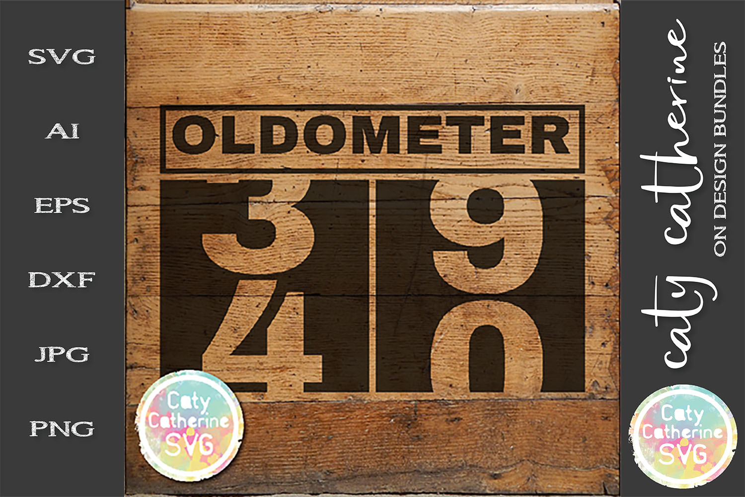 40 Fourtieth Birthday Oldometer SVG Cut File example image 1