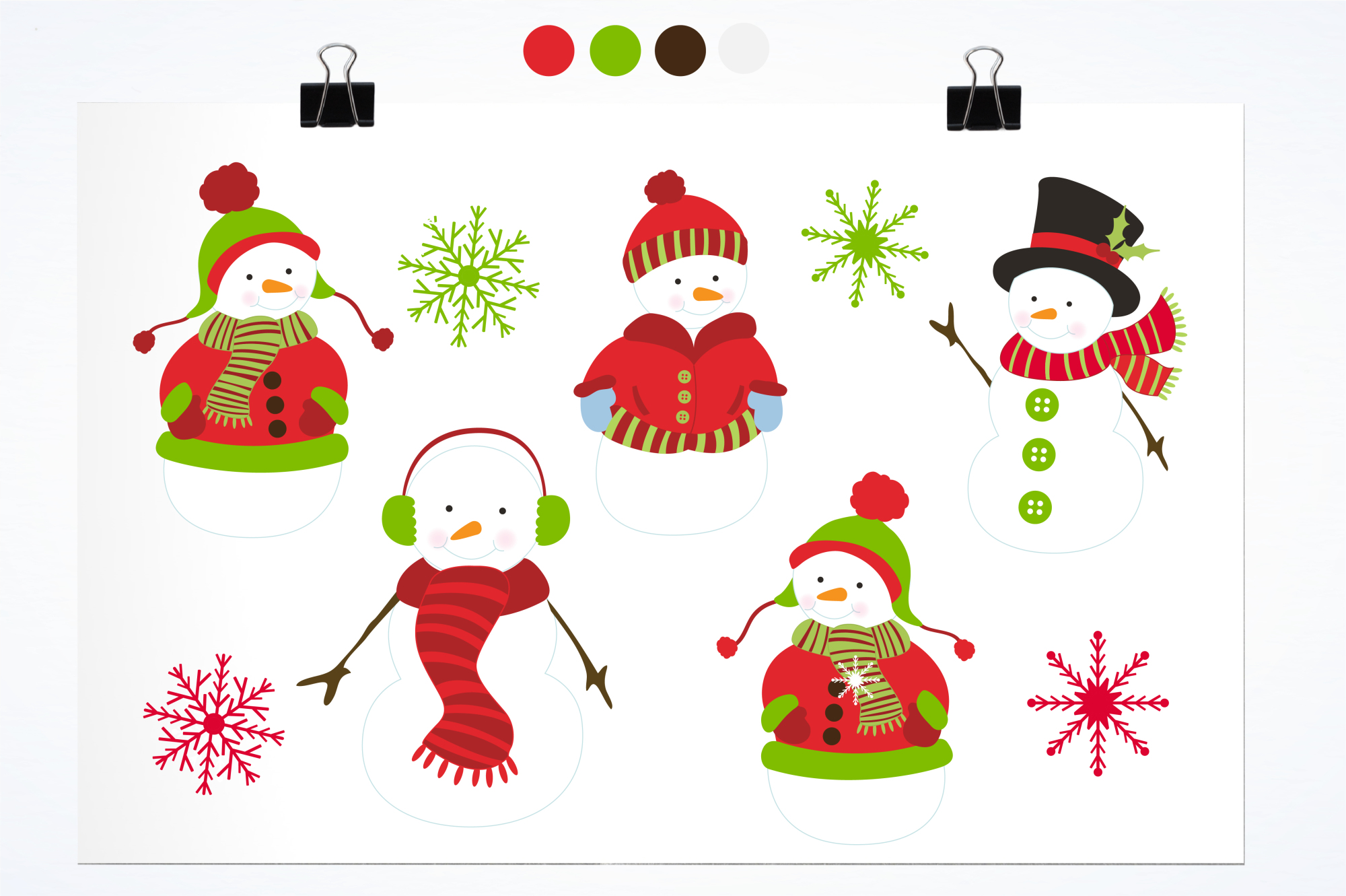 Mr. Snowman graphics and illustrations example image 2
