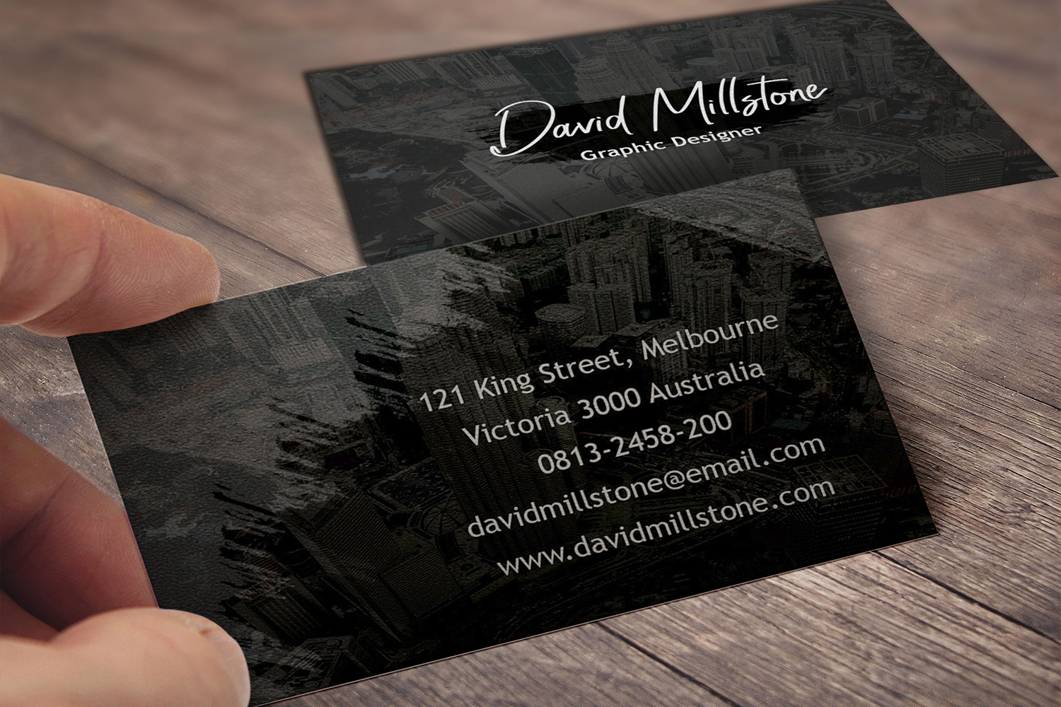 Creative business card template example image 3