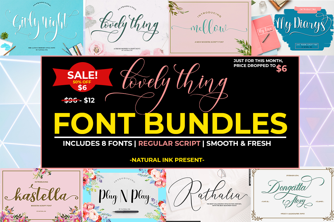 Lovely thing Font Bundles example image 1