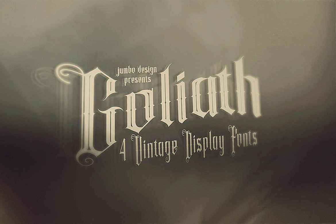 Goliath - Display Font example image 2