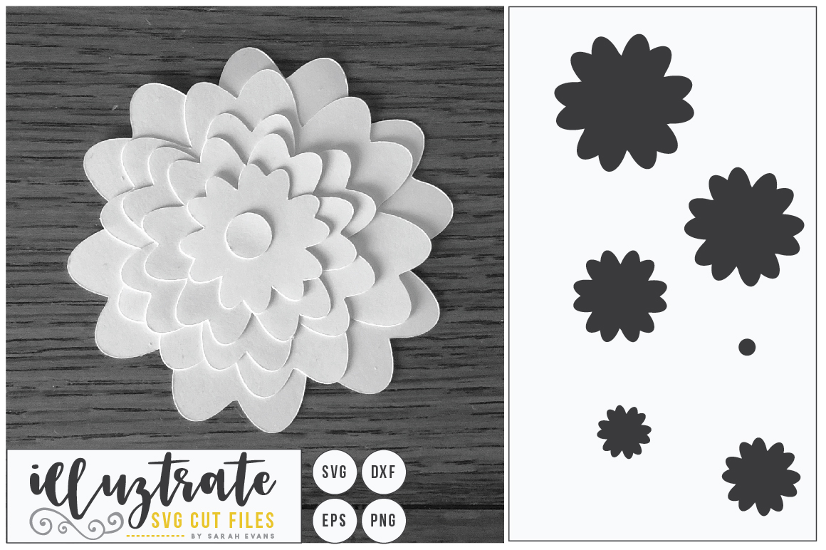 Paper Flower Template Bundle | Paper Cutting Bundle SVG example image 4