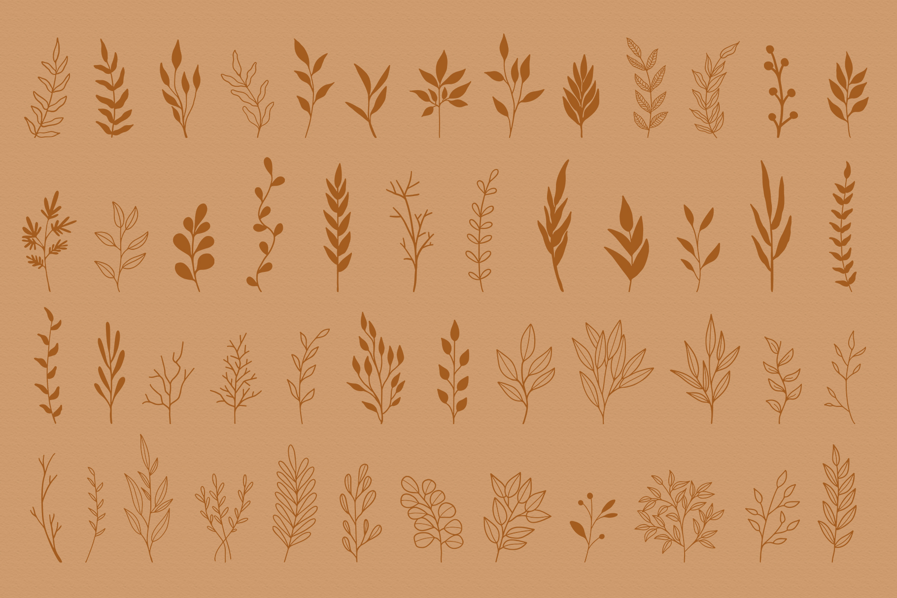 Floral Vector Elements Volume 002 example image 7
