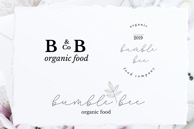Minimal Premade Logo sets, feminine and minimal example image 5