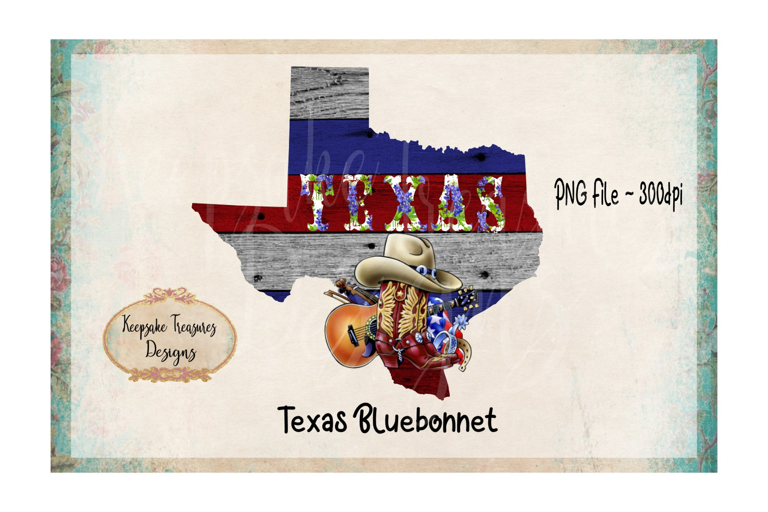 State of Texas Bluebonnet example image 1