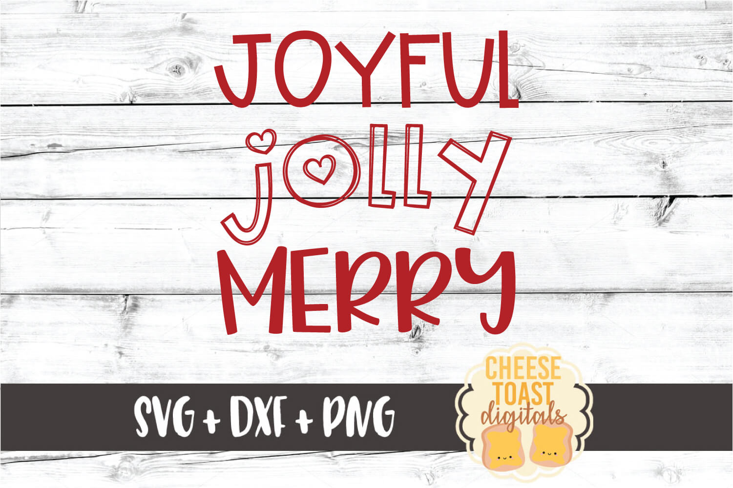Joyful Jolly Merry - Christmas SVG PNG DXF Cut Files example image 2