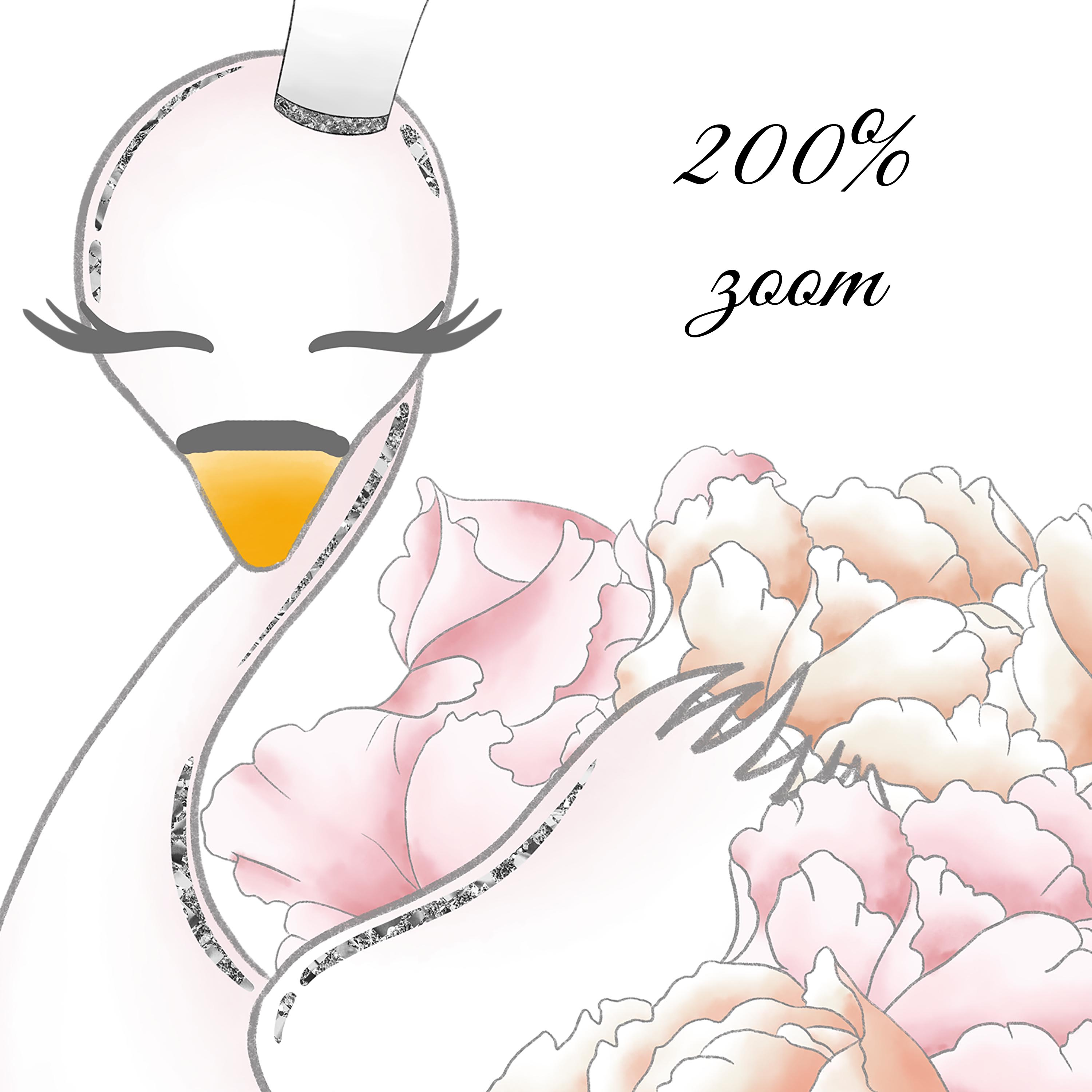 Wild swans clipart example image 2