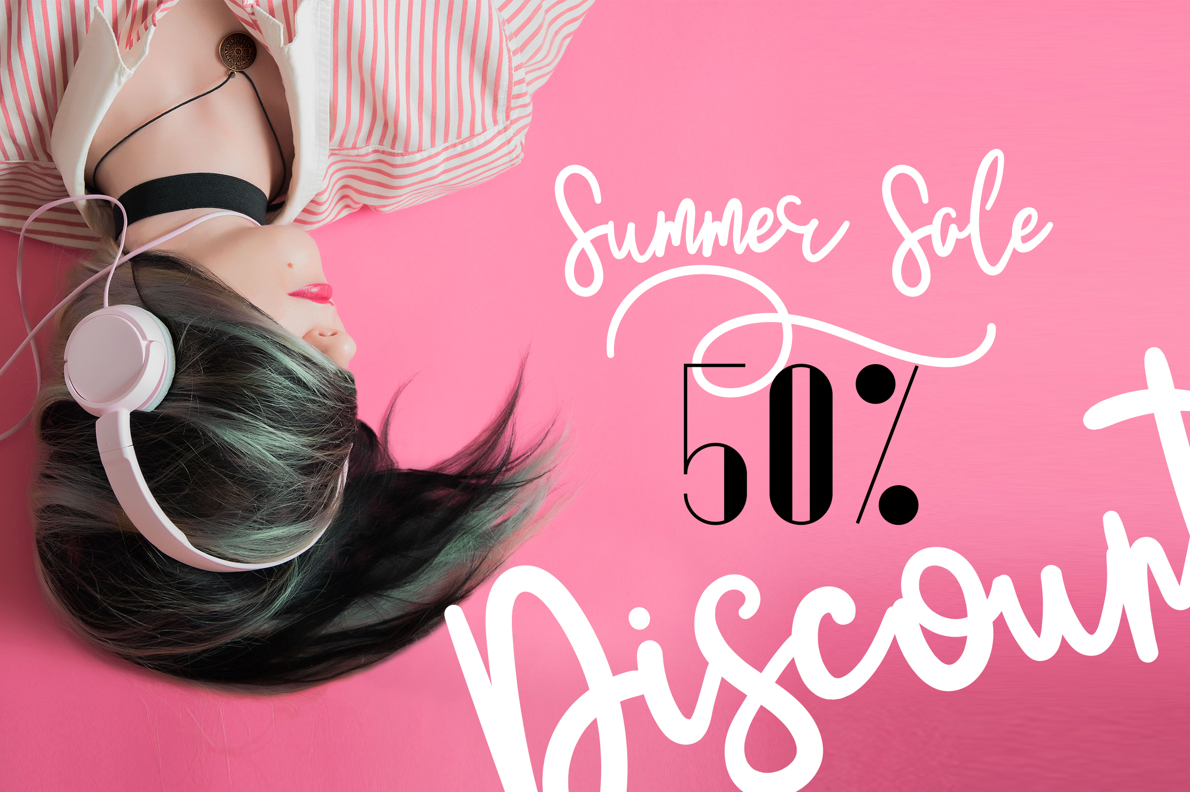 JustBecause font family example image 4
