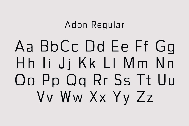 Adon Sans Serif Typeface example image 2