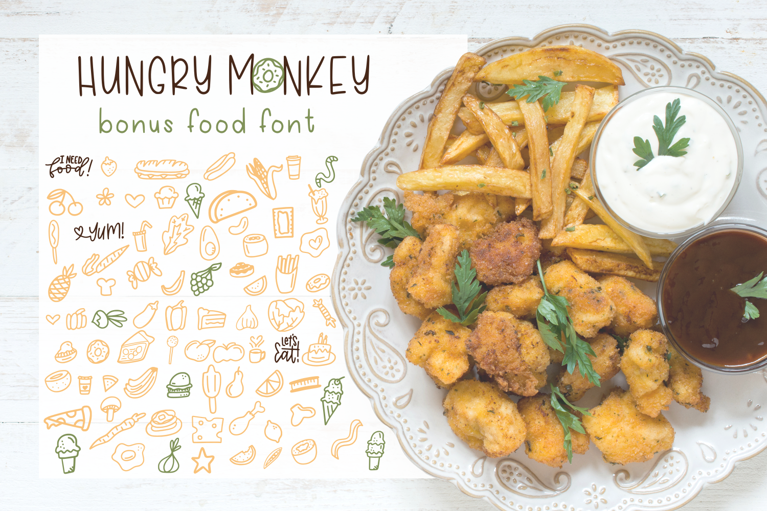 Hungry Monkey - Font Duo example image 2