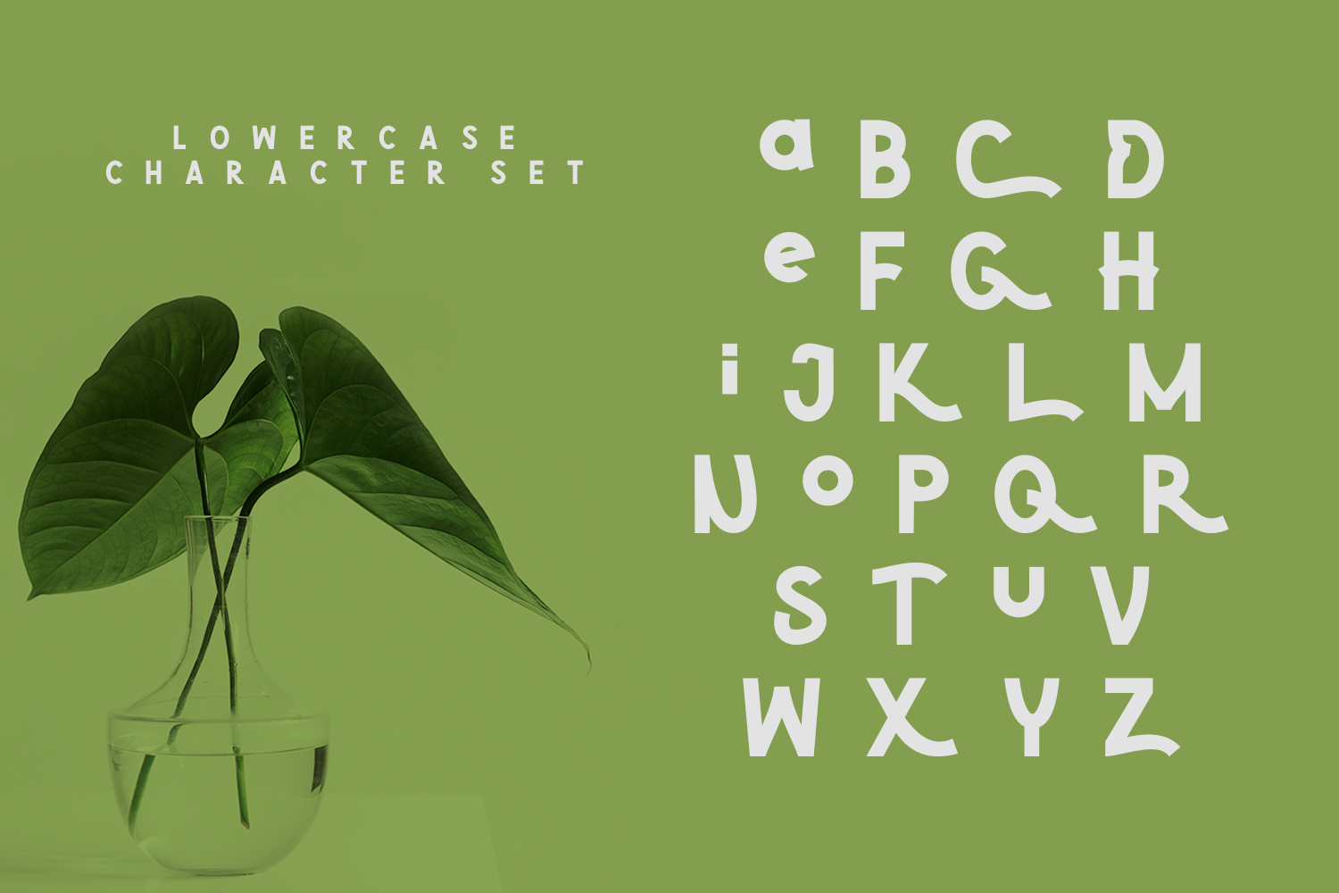 Green | Natural Cute Font example image 5