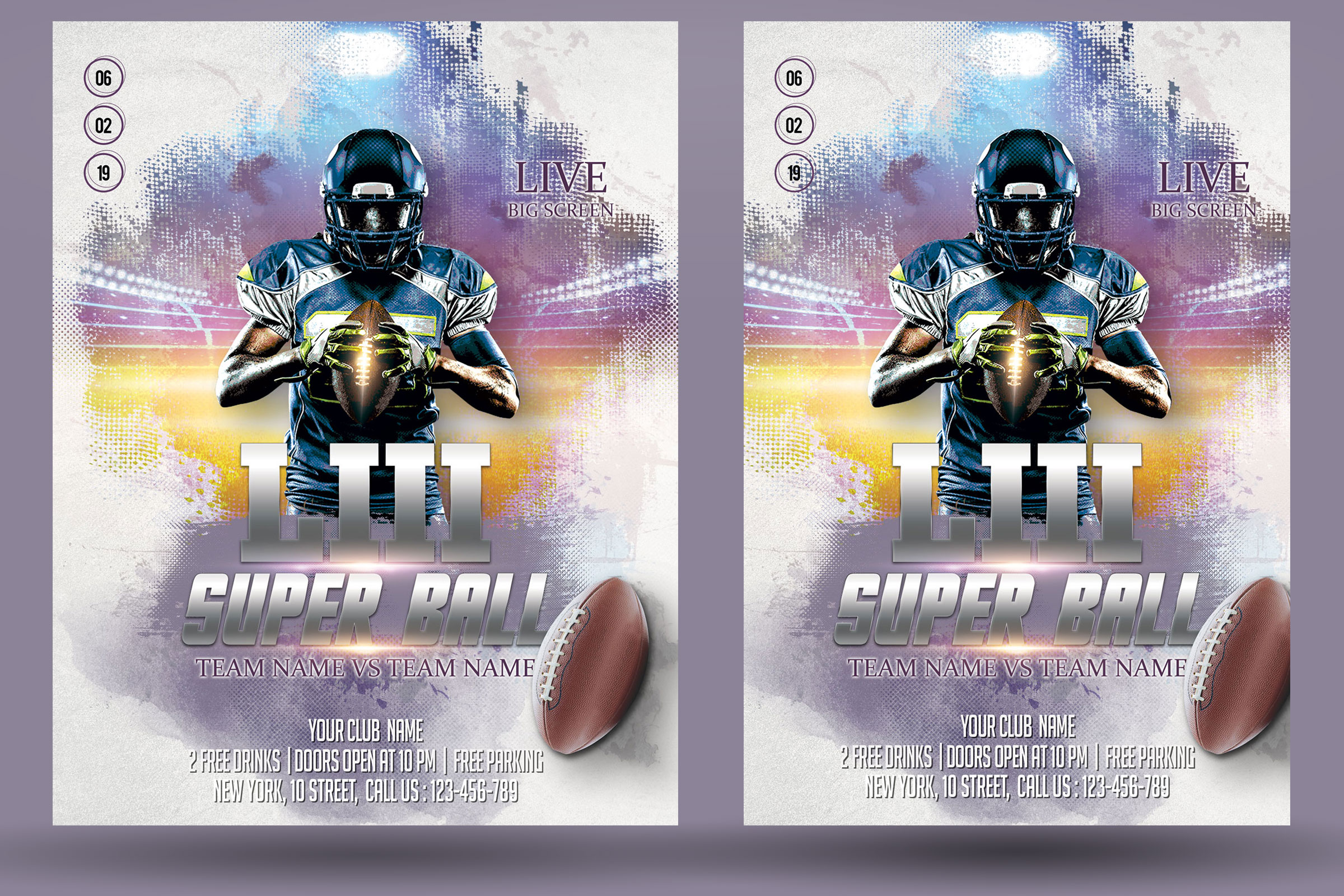 American Football Flyer And Poster example image 2