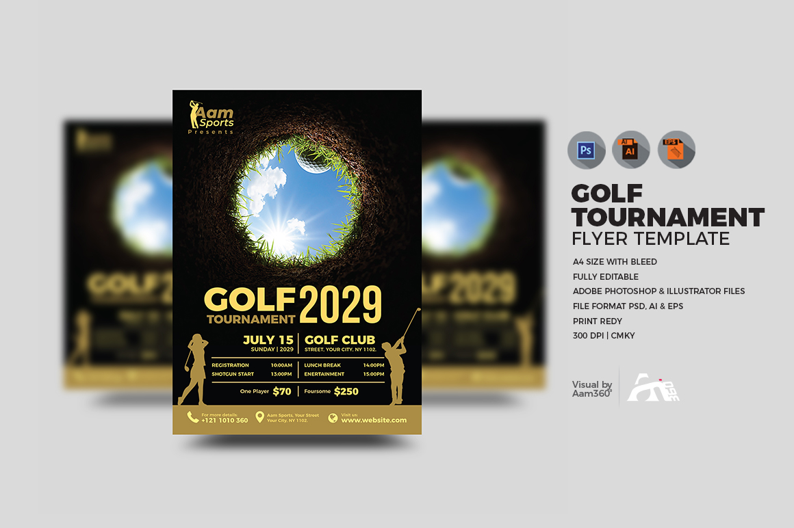 Golf Flyer Template example image 2