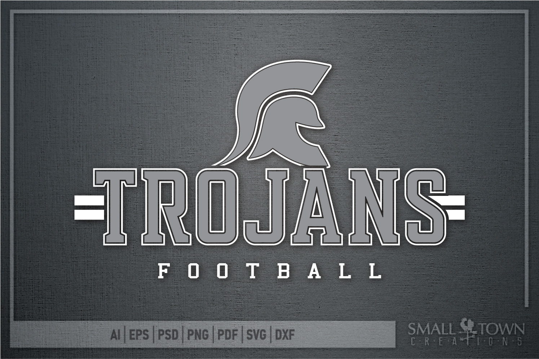 Trojan Football, Team, Sports, Logo, PRINT, CUT & DESIGN example image 5