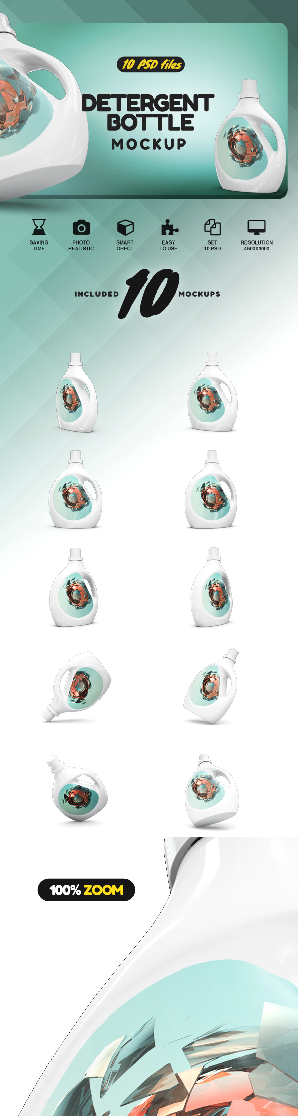 Detergent Bottle Mockup example image 2