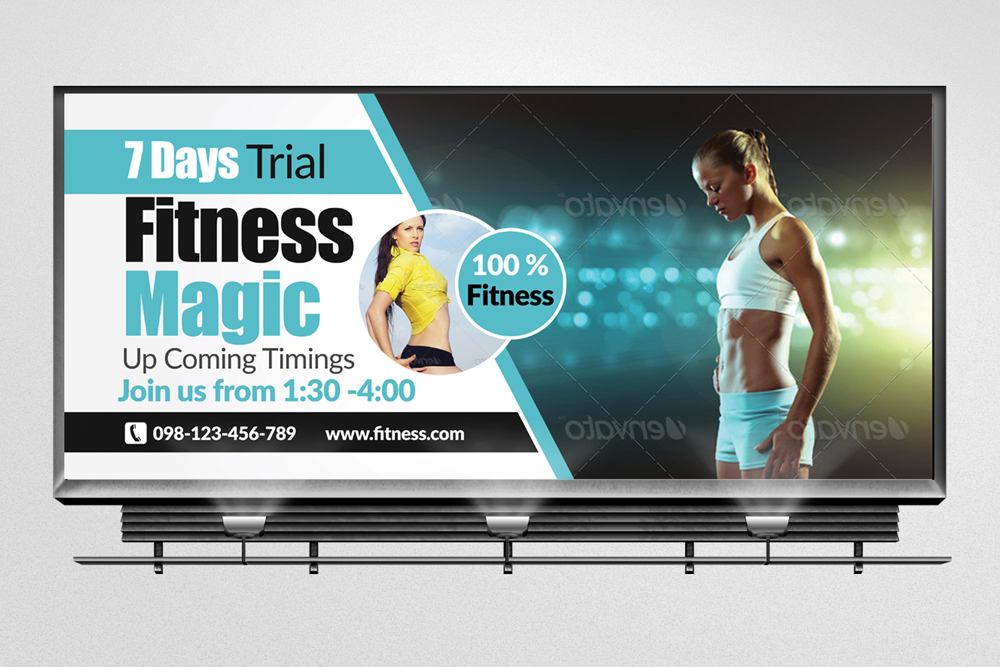 Body Fitness Billboard Banners example image 3