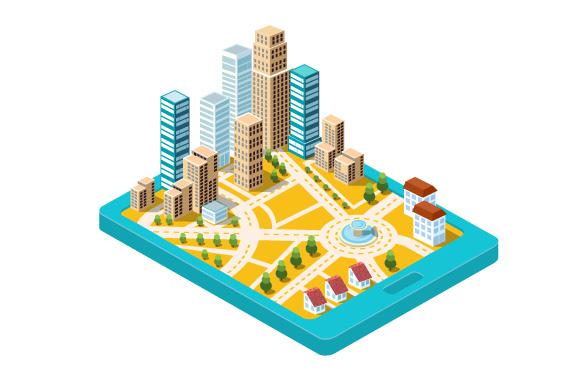 Flat City vector Set example image 2