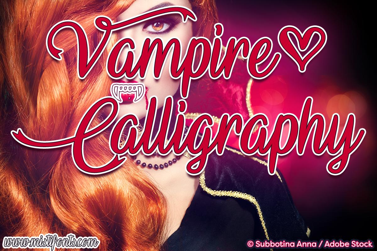 Vampire Calligraphy example image 1