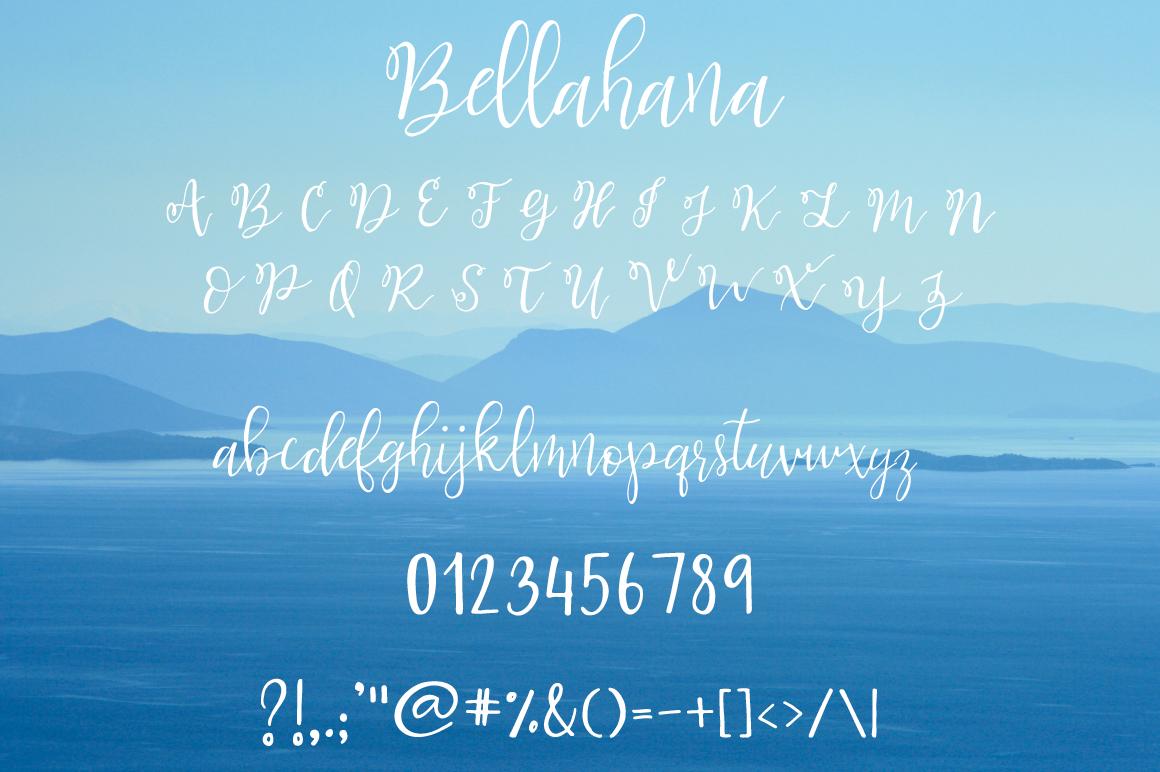 Bellahana Script example image 9