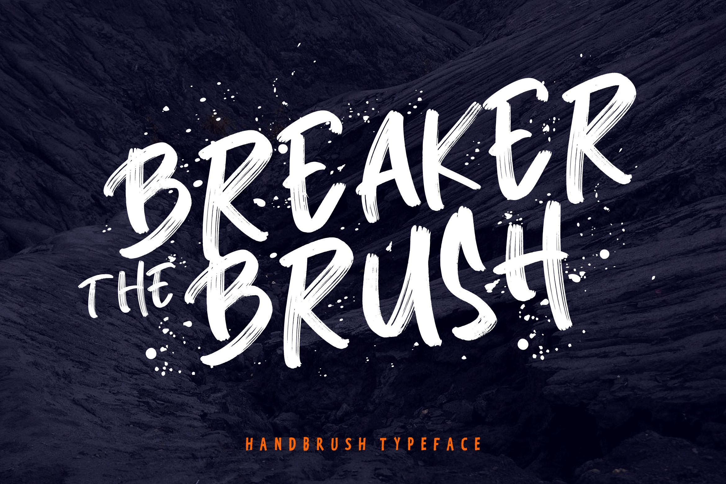 Breaker The Brush Typeface example image 1