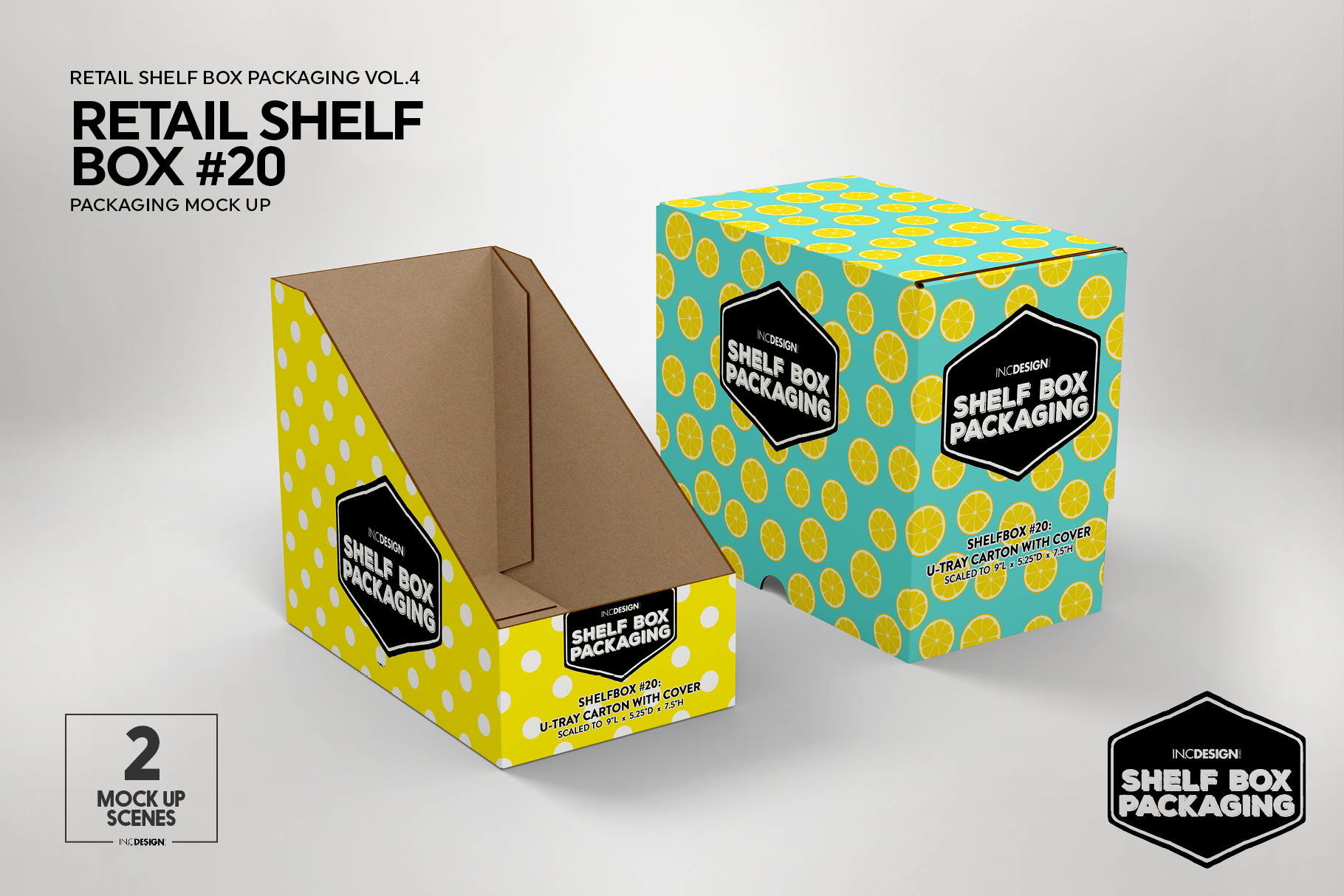 Retail Shelf Box 20 Packaging Mockup example image 3