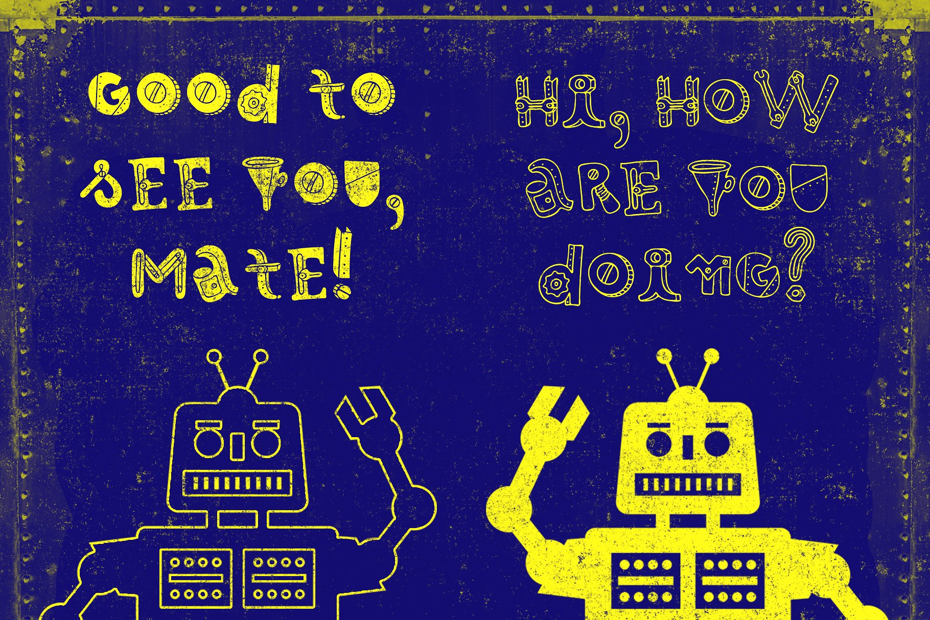 Robotikka Typeface example image 5