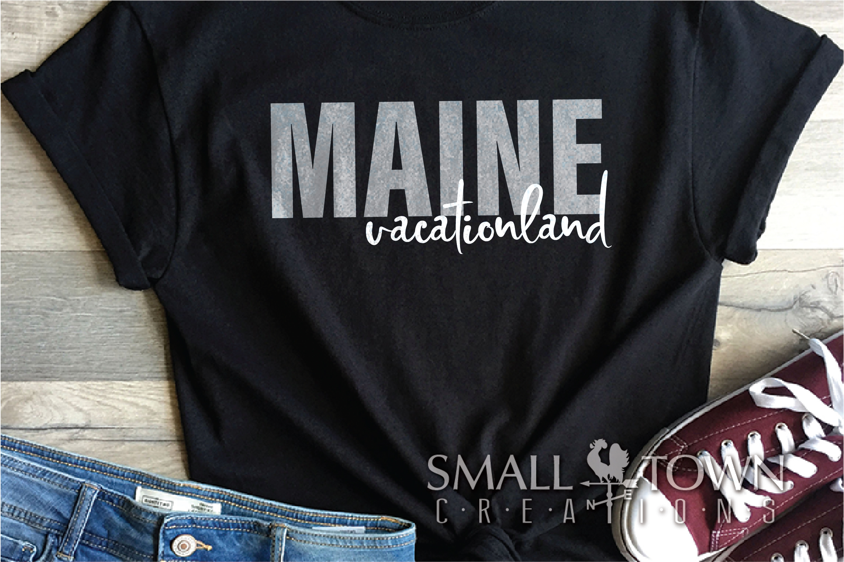 Maine, Vacationland - slogan, Logo, PRINT, CUT & DESIGN example image 8