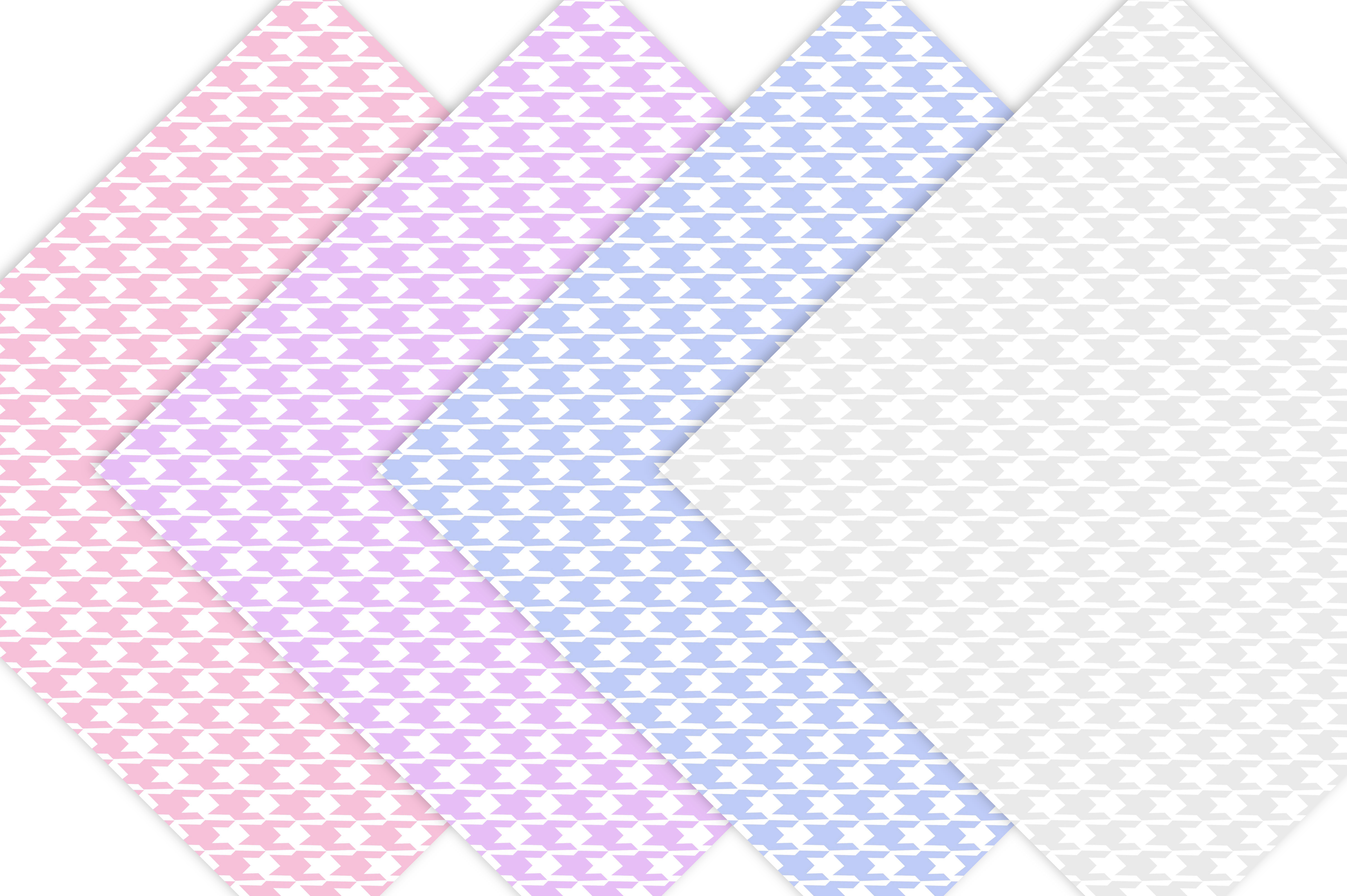 Pastel Houndstooth Digital Paper example image 6