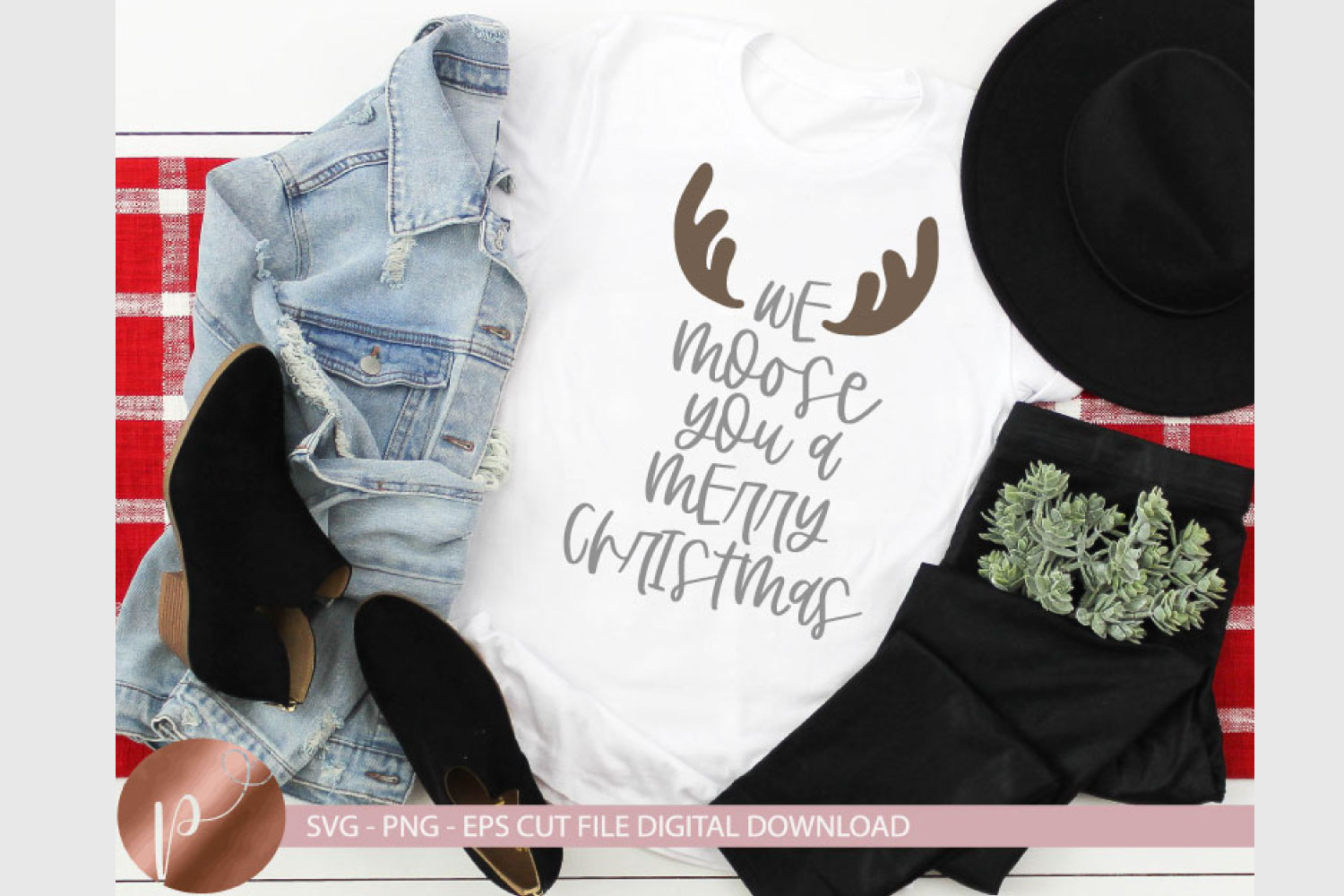 We Moose You A Merry Christmas Svg Eps Png Christmas Design example image 1