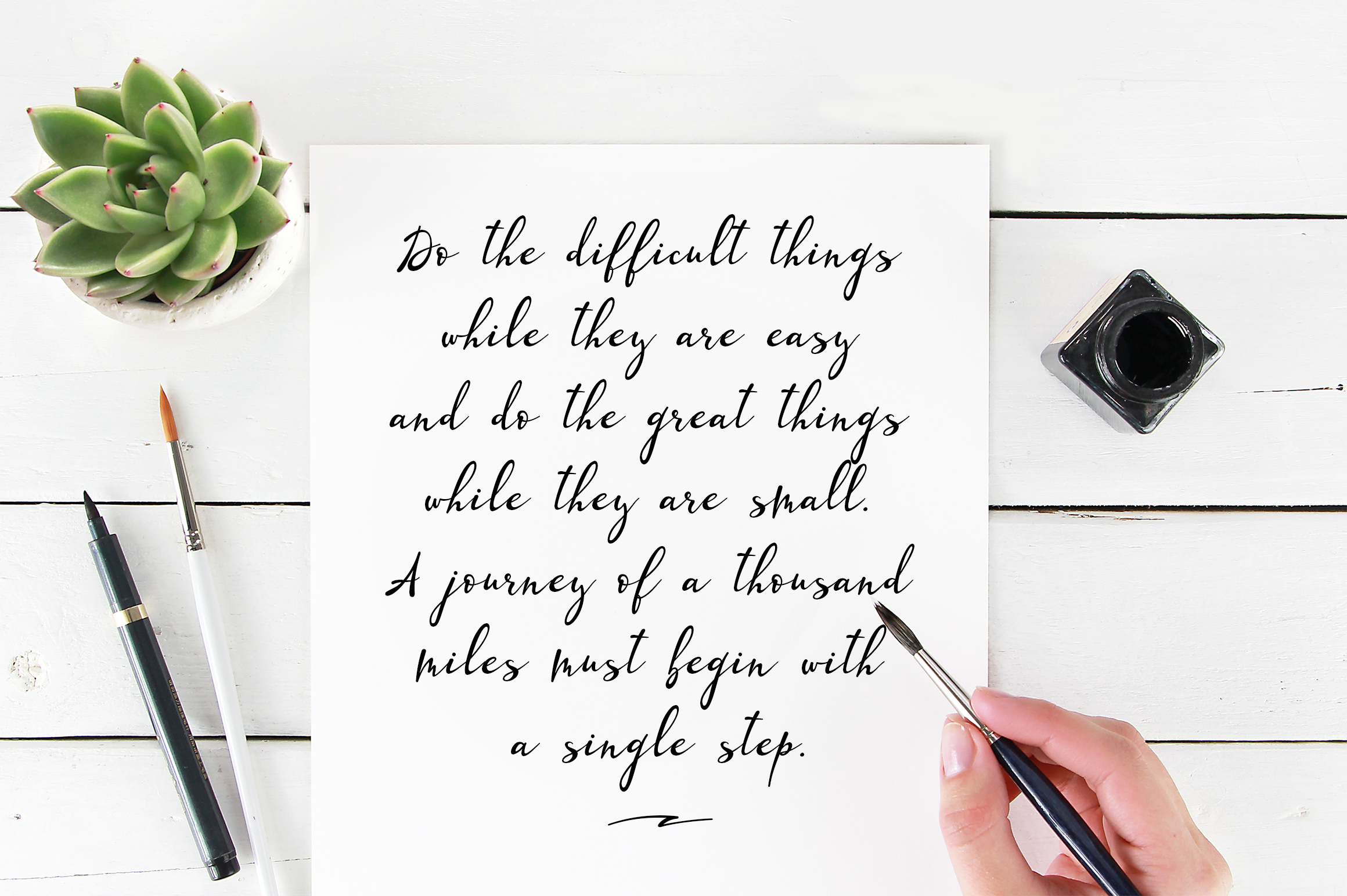 Lazy Daisy - calligraphy font with swashes example image 8