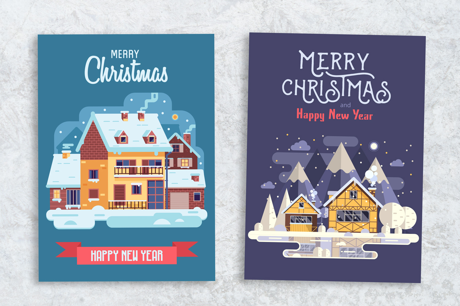 Winter Houses Christmas Cards example image 3