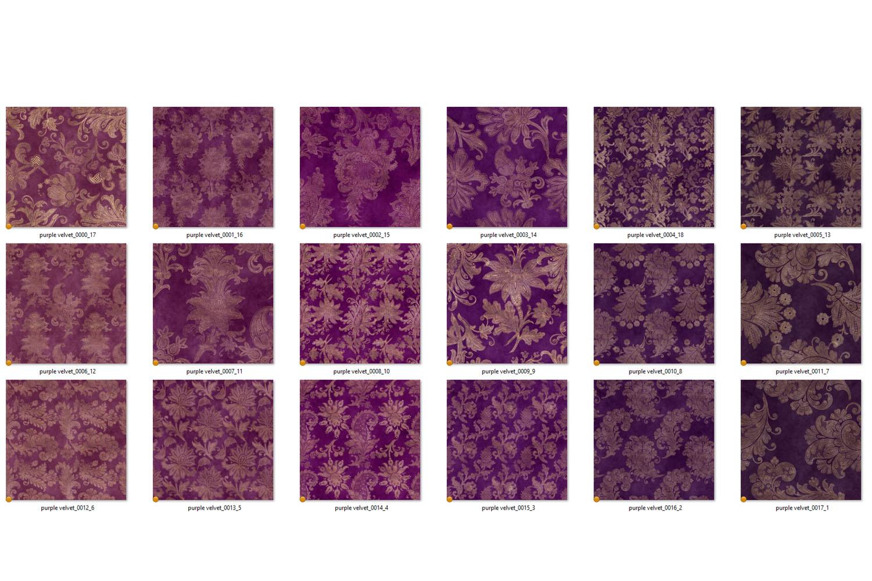 Purple Floral Velvet Digital Paper example image 5
