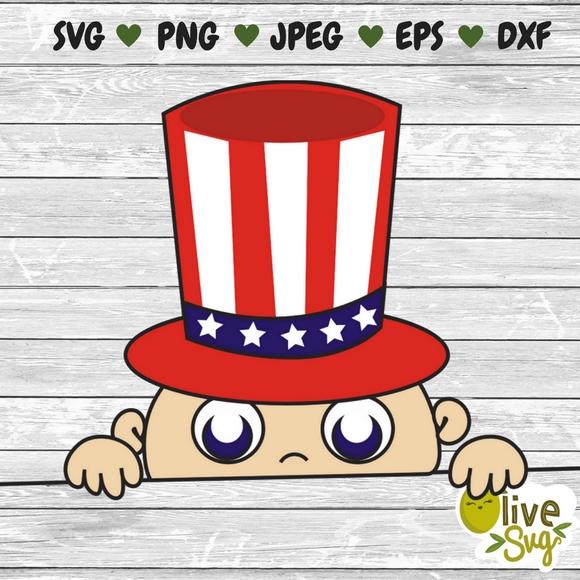 8c4b7bdb4 4th of July Peeking Baby SVG, baby svg, maternity svg, funny pregnancy t