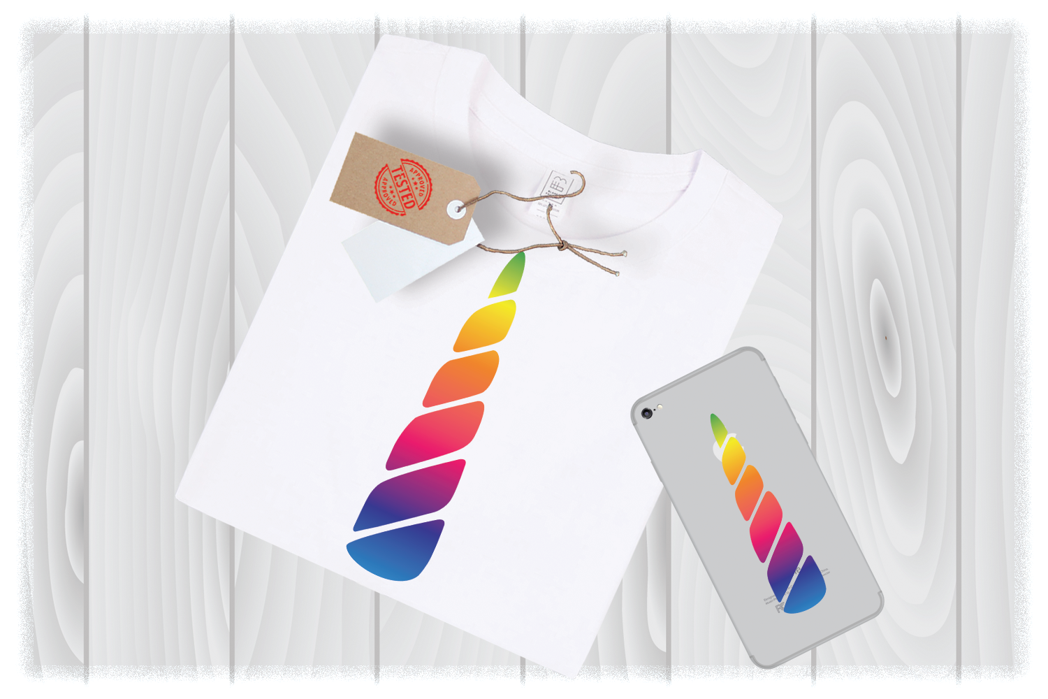 Colorful Unicorn Horn Svg Files for Cricut Designs example image 1