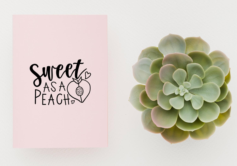 20 Cute Love Notes - Fruits Ver.- Cut File Bundle example image 8