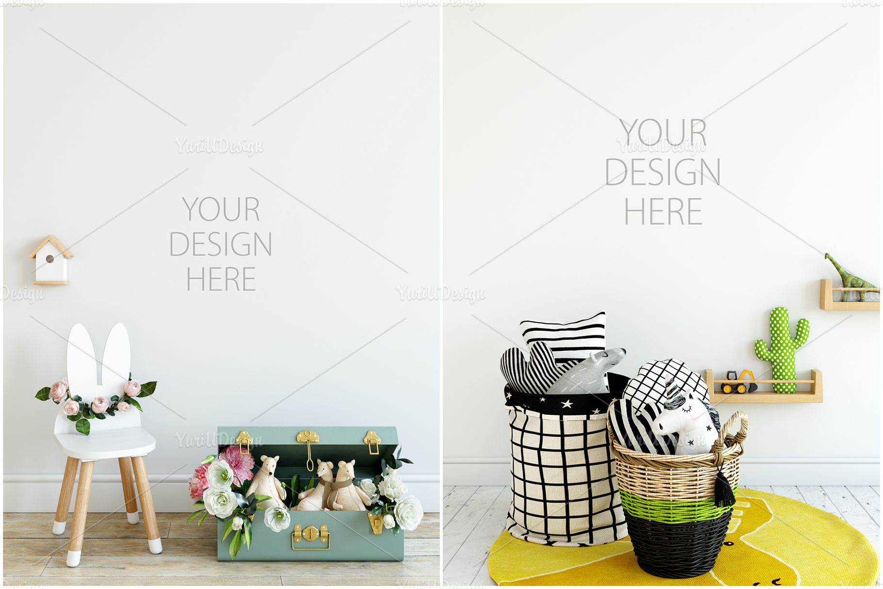 Kids Frames & Wall Mockup Bundle - 5 example image 20