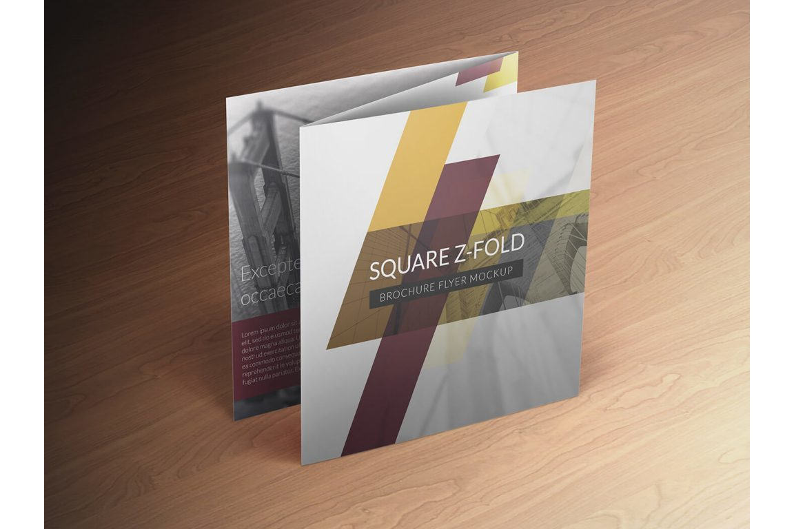 Square Z-Fold Brochure Mockup example image 4
