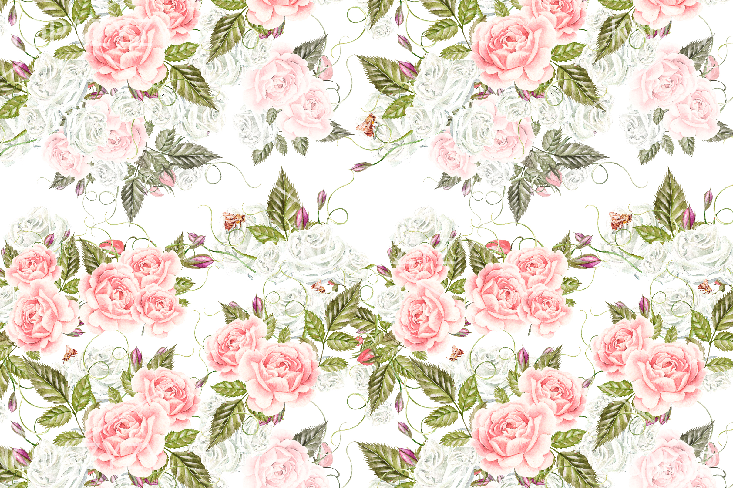 15 Hand Drawn Watercolor PATTERNS example image 14