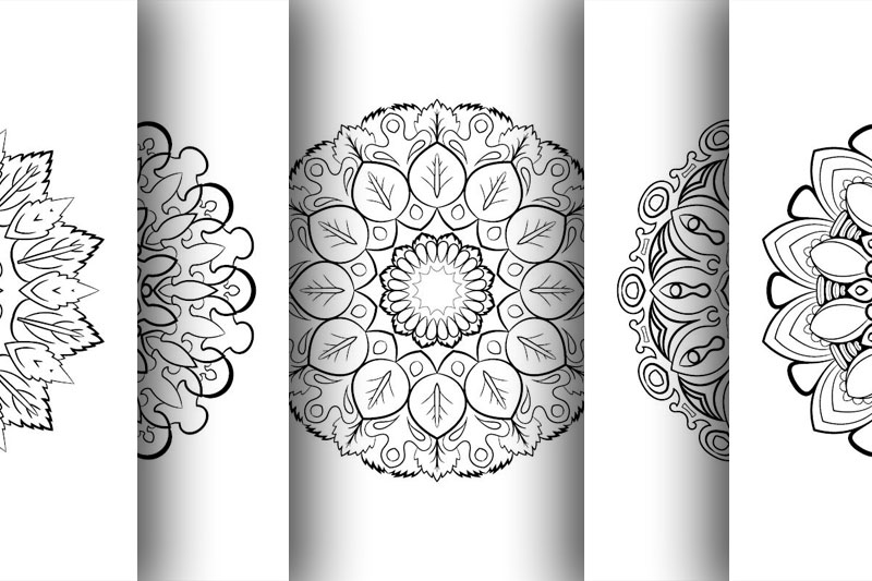 Coloring with 50 floral mandalas. Part two. example image 9