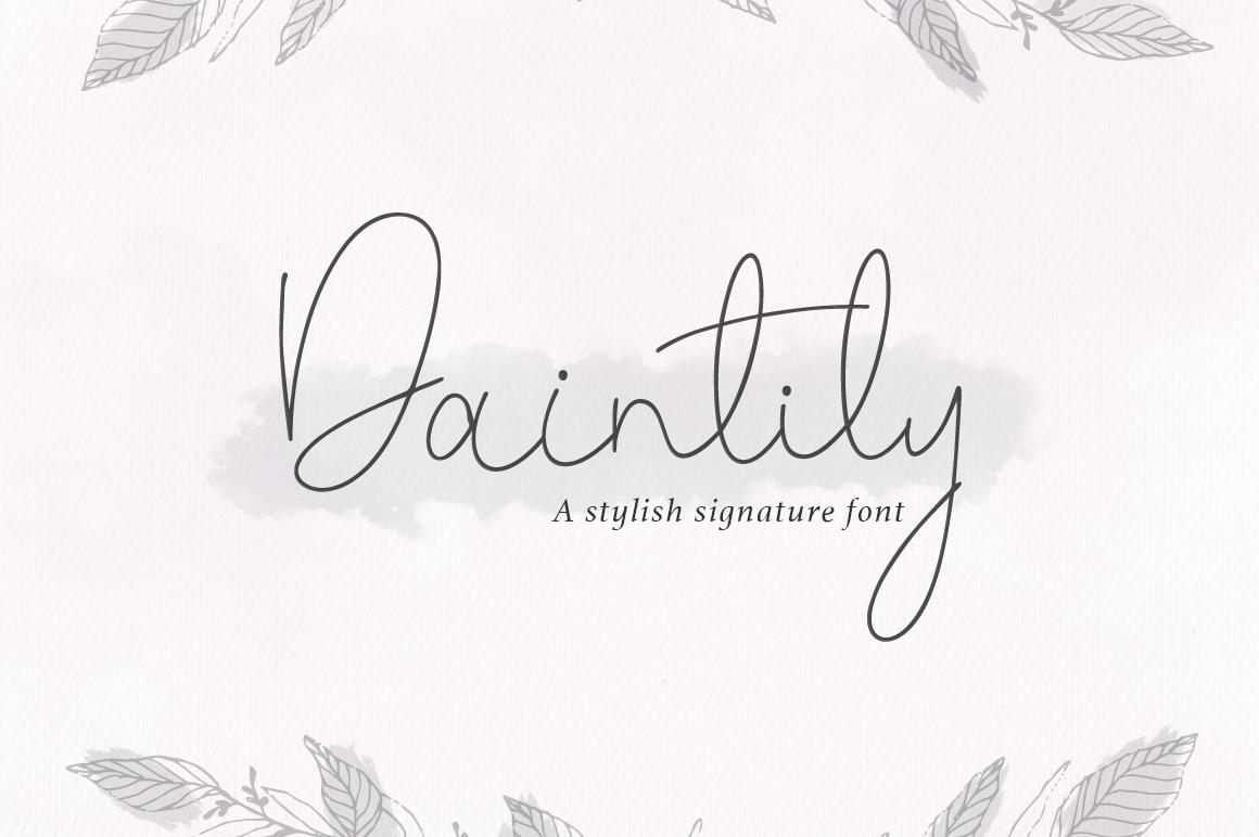 Daintily script example image 1