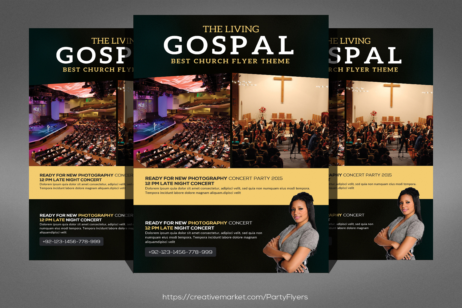 The Living Gospel Flyer example image 1