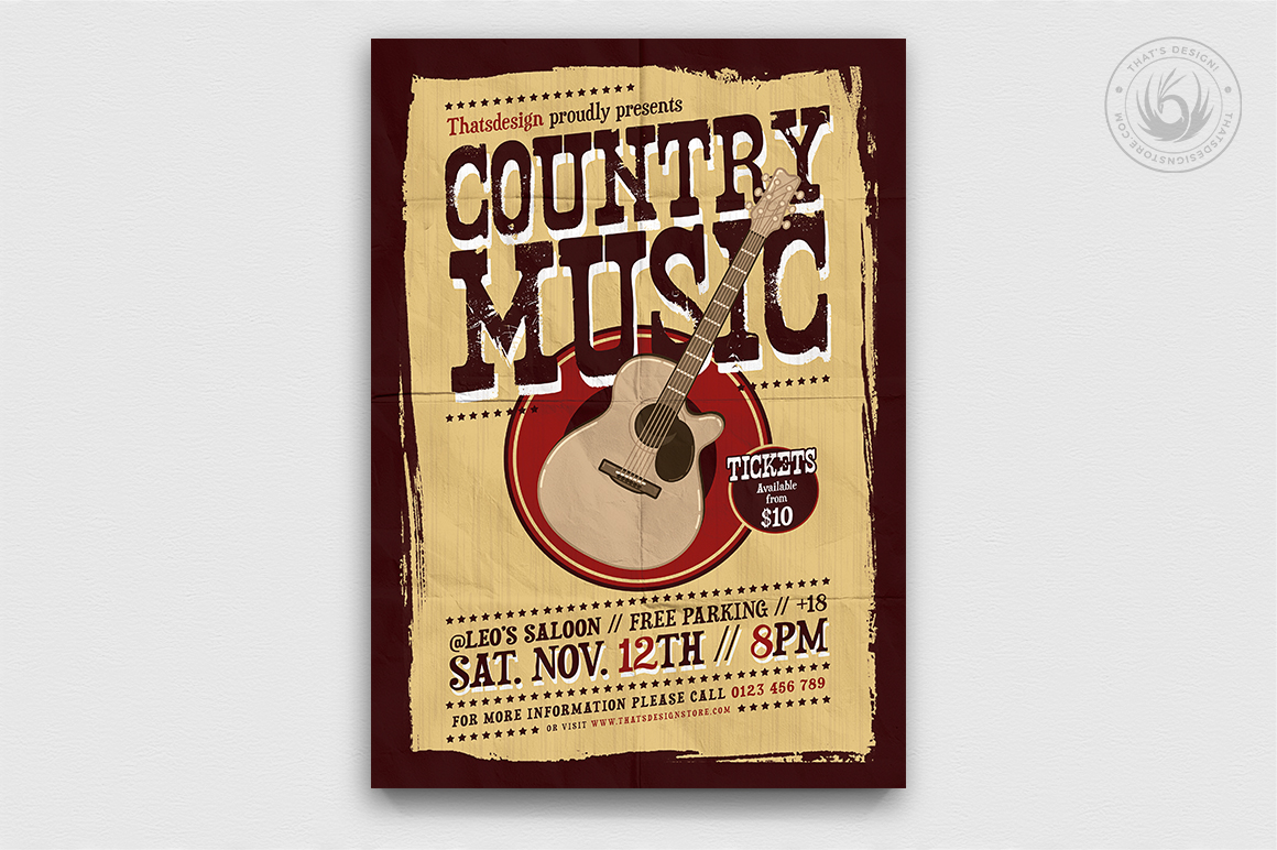 Country Music Flyer Bundle V2 example image 4