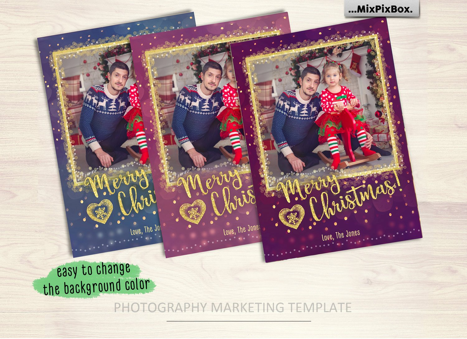 Christmas Card Template example image 2
